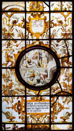 Panel with a roundel, From the former Hospital of Saint Elizabeth of Lier, mid-16th c. © KIK-IRPA, Brussels